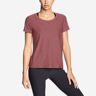Women's Infinity Scoop-Neck T-Shirt w/Pocket in Red