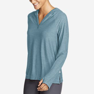 Women's Infinity Long-Sleeve Hoodie in Blue