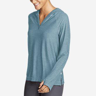Women's Infinity Long-Sleeve Hoodie in Blue