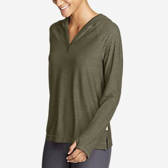 Women's Infinity Long-Sleeve Hoodie in Green
