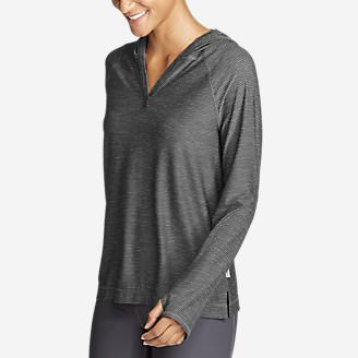 Women's Infinity Long-Sleeve Hoodie in Gray