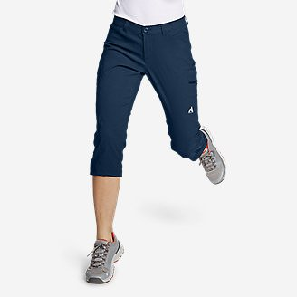 Women's Guide Pro Capris in Blue