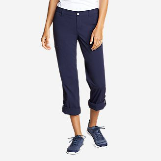 Women's Horizon Roll-Up Pants in Blue