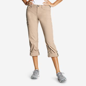 Women's Horizon Roll-Up Pants in Beige