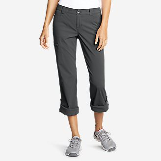 Women's Horizon Roll-Up Pants in Gray
