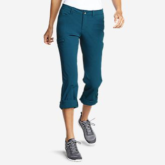 Women's Horizon Roll-Up Pants in Green