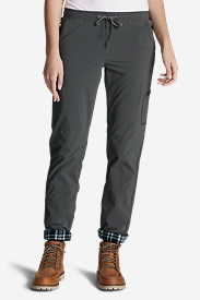 Women's Polar Fleece-Lined Pull-On Pants in Gray