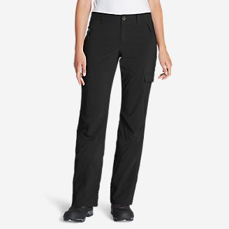 Women's Polar Fleece-Lined Pants in Black