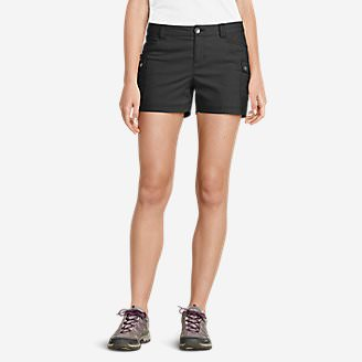 Women's Horizon Cargo Shorts in Black