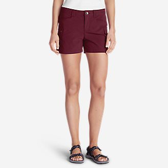 Women's Horizon Cargo Shorts in Red