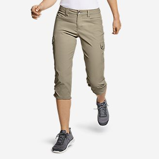 Women's Horizon Capris in Beige
