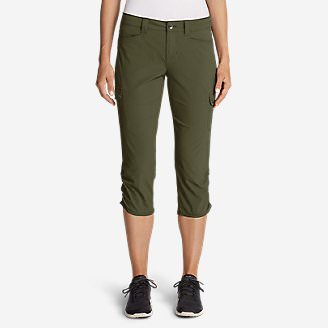 Women's Horizon Capris in Green