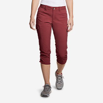 Women's Horizon Capris in Red