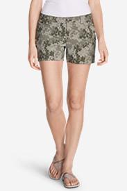 Women's Horizon Cargo Shorts - Print in Green