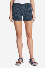 Women's Horizon Cargo Shorts - Print in Blue