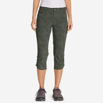 Women's Horizon Capris - Print in Green