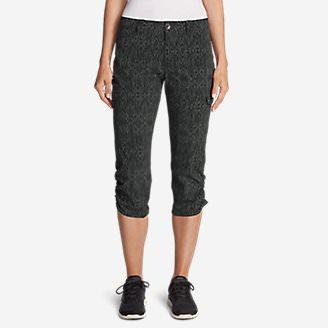 Women's Horizon Capris - Print in Gray