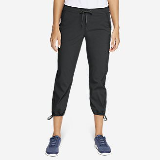Women's Horizon Pull-On Capris in Gray