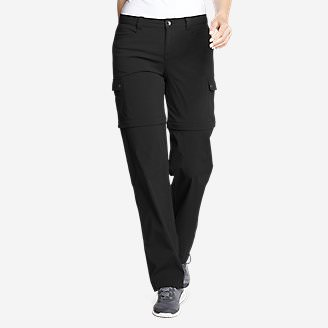 Women's Horizon Convertible Cargo Pants in Black