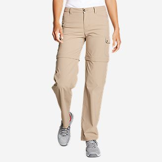 Women's Horizon Convertible Cargo Pants in Beige