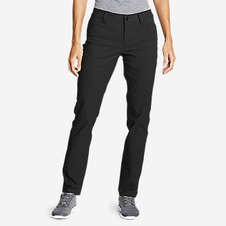 Women's Horizon Guide 5-Pocket Slim Straight Pants in Black