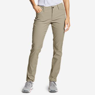 Women's Horizon Guide 5-Pocket Slim Straight Pants in Beige