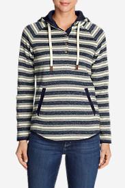 Women's Radiator Fleece Pullover - Stripe in Blue