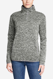 Women's Radiator Fleece Snap Mock-Neck Pullover in Gray