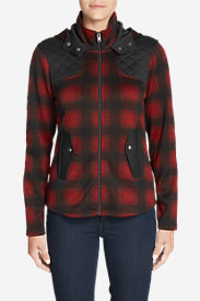 Women's Radiator Fleece Cirrus Jacket - Plaid in Red