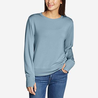 Women's Enliven Ultrasoft Long-Sleeve Sweatshirt in Blue