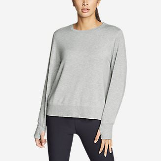 Women's Enliven Ultrasoft Long-Sleeve Sweatshirt in Gray