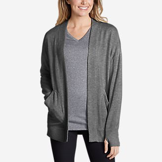 Women's Enliven Ultrasoft Long-Sleeve Wrap in Gray