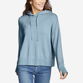Women's Enliven Long-Sleeve Hoodie in Blue