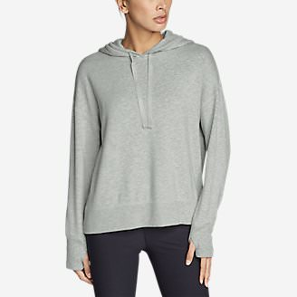 Women's Enliven Ultrasoft Long-Sleeve Hoodie in Gray