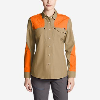 Women's Field Guide Flex Shirt in Brown