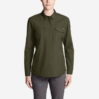 Women's Field Guide Flex Shirt in Green