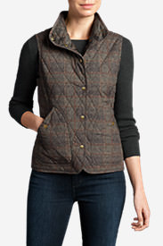 Women's Year-Round Field Vest - Plaid in Brown