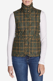Women's Year-Round Field Vest - Plaid in Green