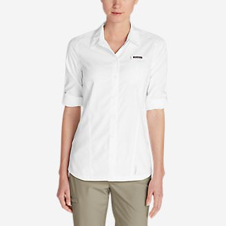 Women's Water Guide Long-Sleeve Shirt in White
