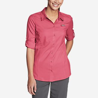 Women's Water Guide Long-Sleeve Shirt in Red