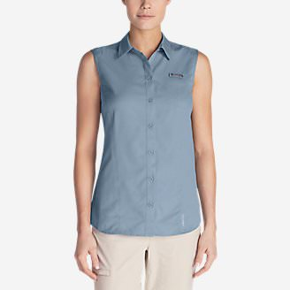 Women's Water Guide Sleeveless Shirt in Blue