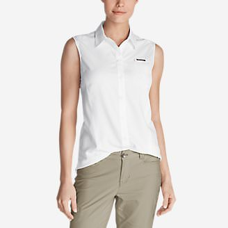 Women's Water Guide Sleeveless Shirt in White