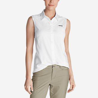 Women's Water Guide Sleeveless Shirt in White