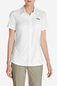 Women's Ahi Short-Sleeve Shirt in White