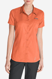 Women's Ahi Short-Sleeve Shirt in Orange