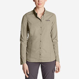 Women's Freepellent Long-Sleeve Shirt in Beige