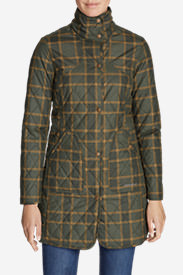 Women's Year-Round Field Coat - Plaid in Green