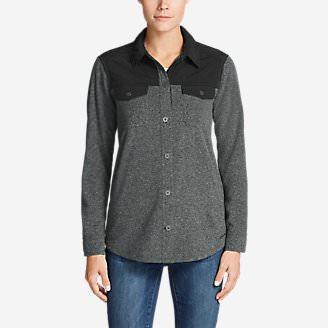 Women's Chutes Fleece Field Shirt in Gray