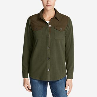 Women's Chutes Fleece Field Shirt in Green