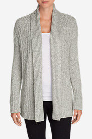 Women's Cable Sleep Cardigan in Gray